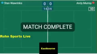WAWRINKA vs MURRAY Live Now Eastbourne 2018 - Score