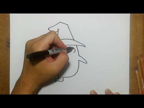 สอนวาดรูป การ์ตูน ผี น่ารัก | วาดการ์ตูน กันเถอะ