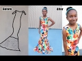 10 year old DESIGNER makes a GOWN