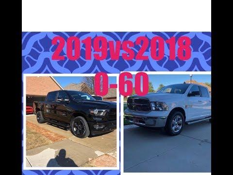 0- 60 MPH 2018 vs 2019 HEMI RAM 1500