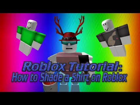 Roblox Tutorial How To Shade A Shirt On Roblox Youtube