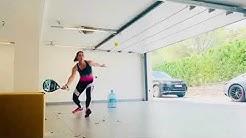Teresa Navarro entraînement de padel pendant le confinement