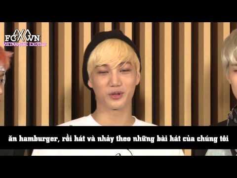 [Vietsub] 130724 EXO @ KCON EXCLUSIVE Interview [Ếch ộp Subteam]