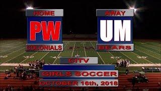 PWHS Girls Soccer vs. Upper Moreland - 10/16/18 | PWHS Sports