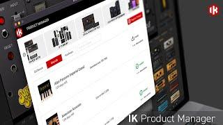 IK Multimedia - IK Product Manager - 새로운 IK 제품 관리 애플리케이션