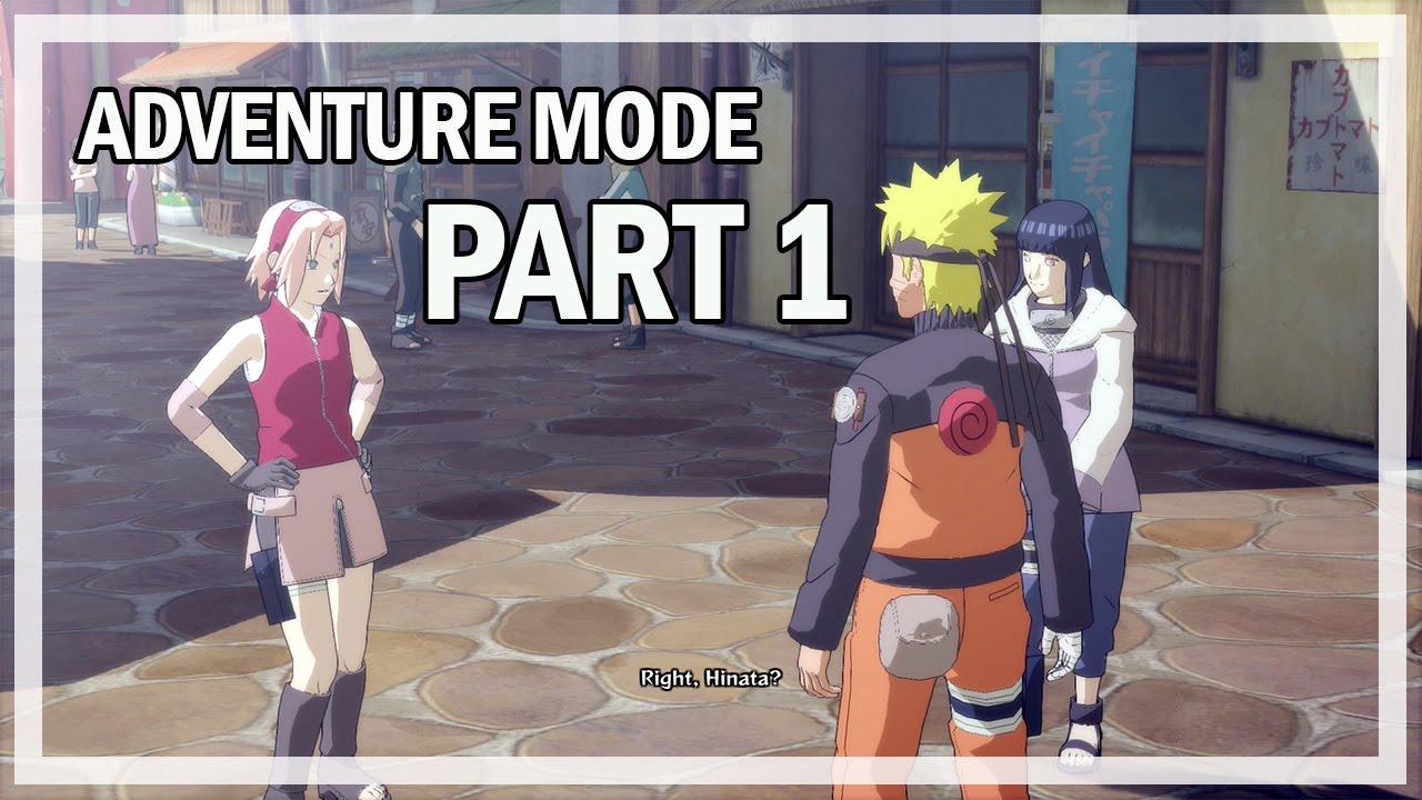 Naruto Shippuden Ultimate Ninja Storm 4 Adventure Mode Part 1 - Gameplay  Walkthrough