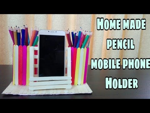 How to make a pen stand and mobile phone holder