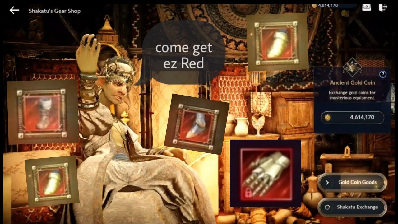 Black Desert Mobile : Gacha 4.6m shakatu gold coin , higher chance get red !! #F2p #When ??