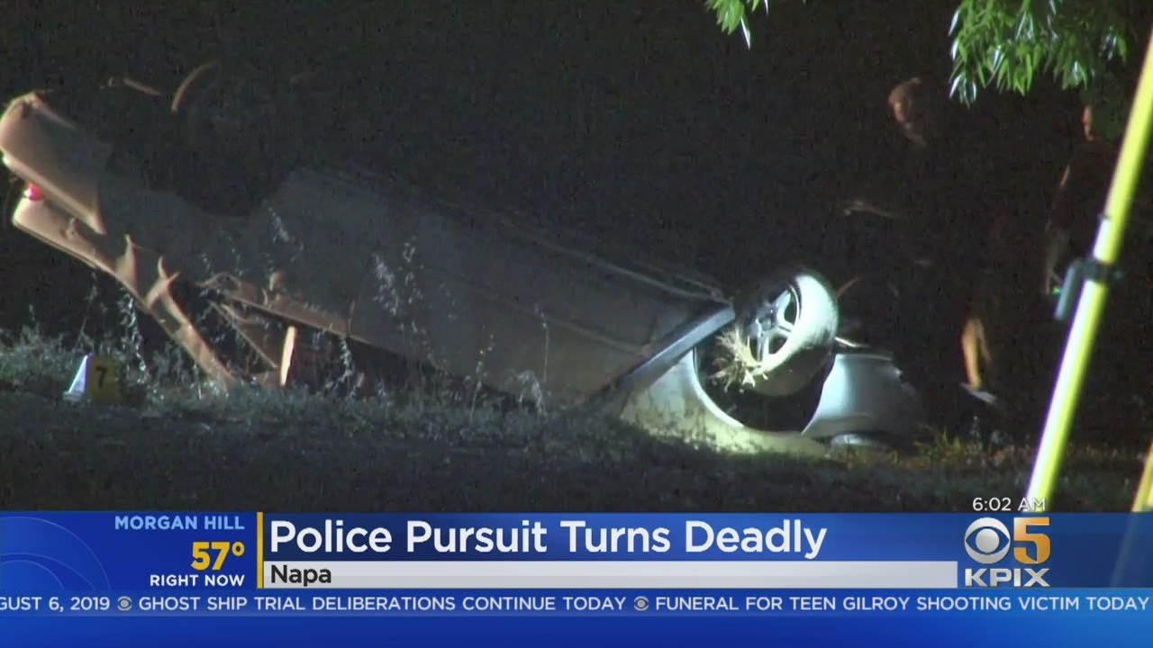 1 Dead Following Police Pursuit, Crash In Napa County