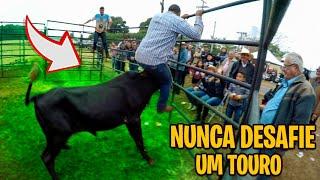 TOURO BRAVO ATACA HOMEM NO LEILÃO