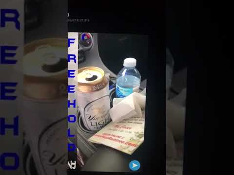 SnapChat video shows open beer can seen inside an N.J. cop car
