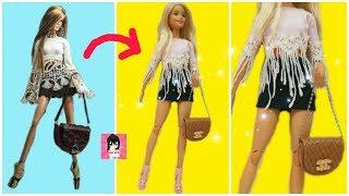 BIẾN HÓA BÚP BÊ- trang phục : may quần áo, túi xách cho búp bê / Ami DIY