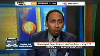 Tony Romo A Top 5 QB       ESPN First Take