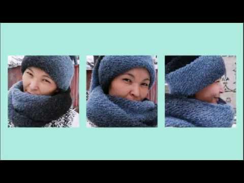 образец шарф вязание спицами пряжа Alize Alpaca букле Youtube
