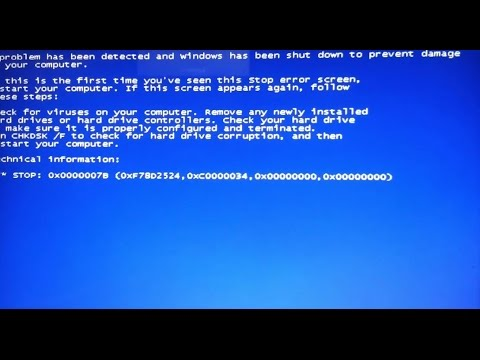 Fix Blue-Screen Windows Cease Error - BSOD 0x0000007B