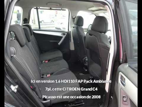 citroen grand c4 picasso 1 6 hdi110 fap pack ambiance 7pl rodez une occasion autotransac. Black Bedroom Furniture Sets. Home Design Ideas