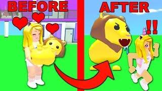 Il mio animale domestico LION In Adopt Me ha un passato DARK.. (Roblox)