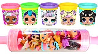 Play Doh Learn Colors LOL Surprise Toys Play Doh Can Heads and Molds for Kids