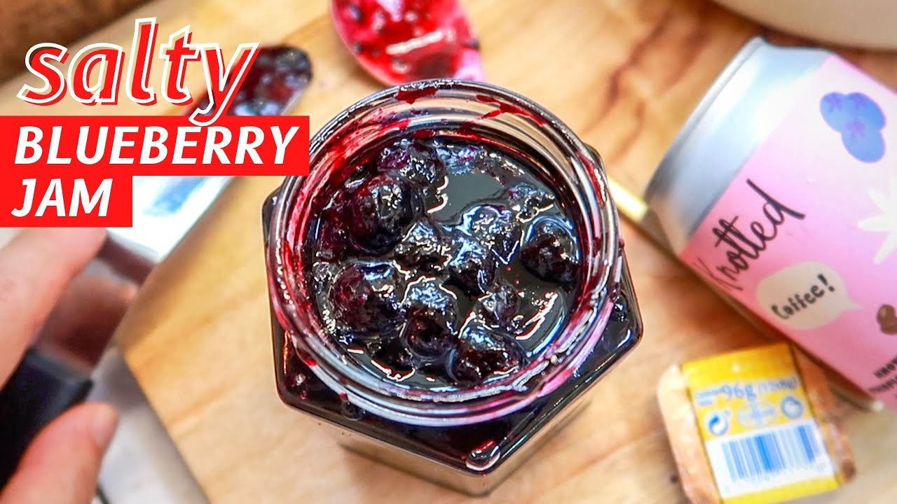 How to: Salty Blueberry Jam! - Perfect for Breakfast Toast