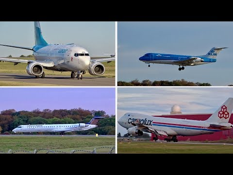 Spotting at Luxembourg Findel Airport | 14 minutes Compilation