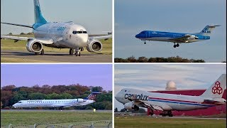 Spotting at Luxembourg Findel Airport   14 minutes Compilation