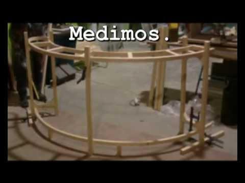 Mostrador de madera laminada y m rmol youtube - Como se hace una casa de madera ...