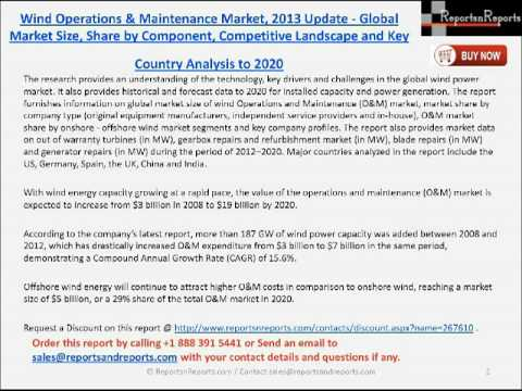 Wind Operations & Maintenance Market 2020 Forecast and Analysis