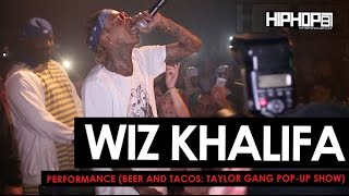 "Wiz Khalifa Performs at The Beer And Tacos ""Taylor Gang Pop-Up Show"" in Atlanta (HHS1987 Exclusive)"