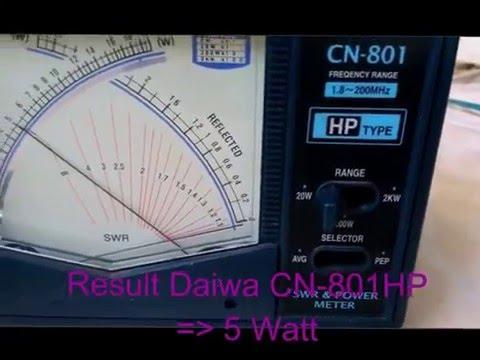 Testing SWR & Watt Meter Daiwa CN 720B, Daiwa CN 801HP, Motorola Bird on