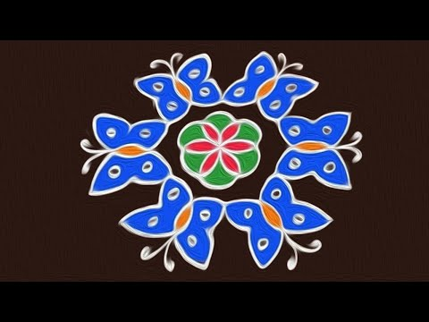 Rangoli Art | 7 to 4 Interlaced Dots | Easy Rangoli Designs | Rangavalli Festival Arts #284