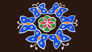 #284 - Sankranthi Muggulu | 7 to 4 Interlaced Dots | Easy Rangoli Designs | Rangavalli Festival Arts