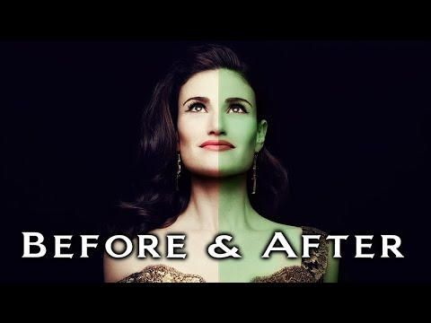 Idina Menzel Before & After Elphaba Voice