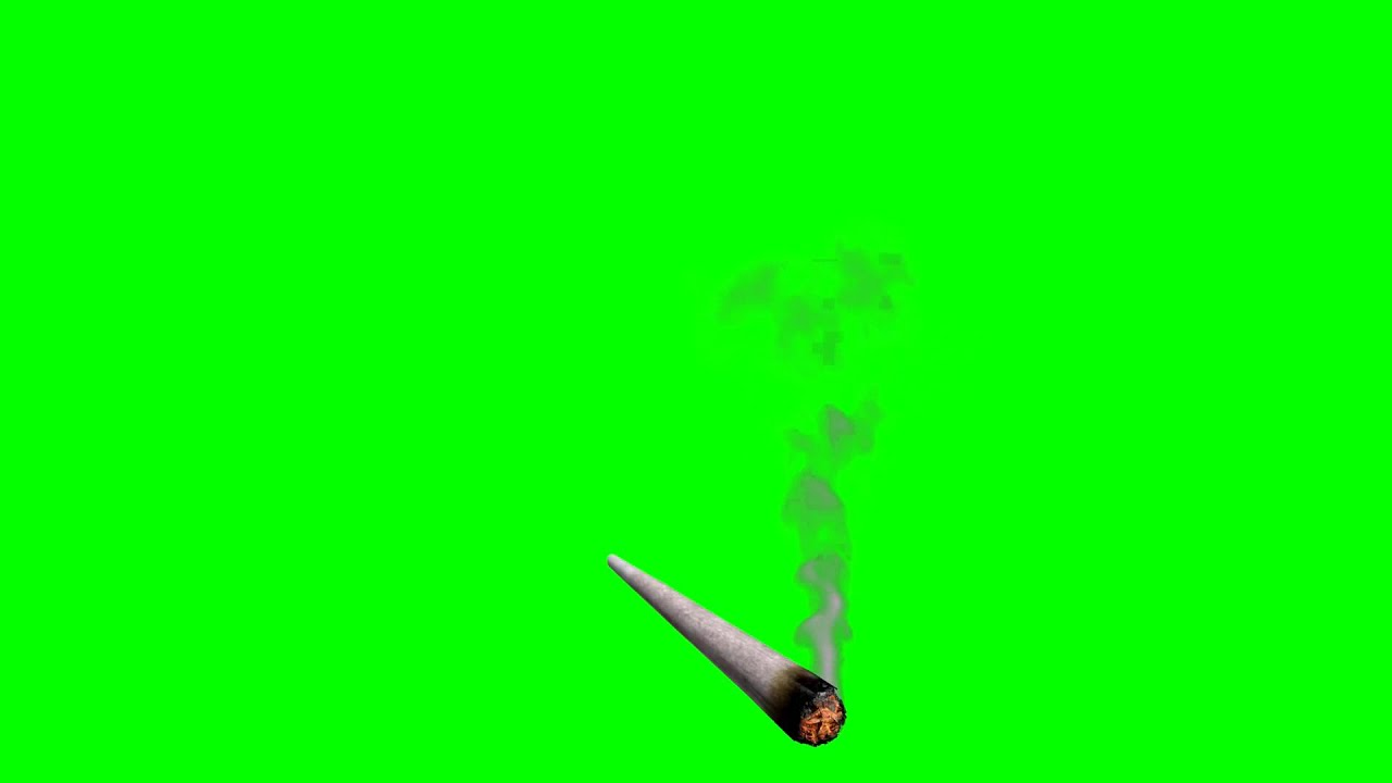 Smoking Joint (Green Screen) - YouTube