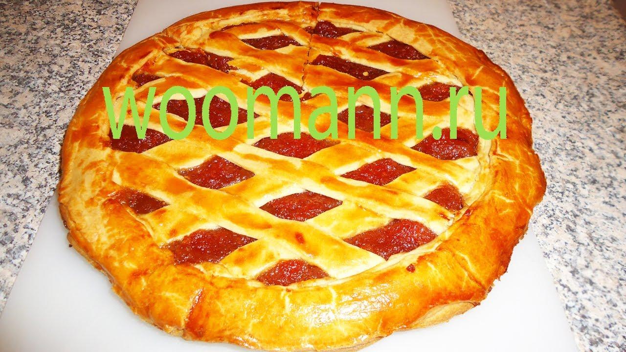 Вкусный пирог с вареньем в духовке