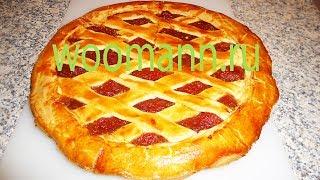 видео Пирог с вареньем