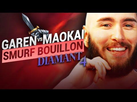 Vidéo d'Alderiate : [FR] ALDERIATE & AKABANE - SMURFING BOUILLON - GAREN VS MAOKAI  - GAREN MACHINE DE GUERRE