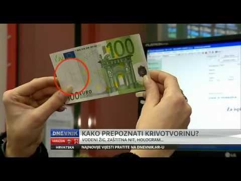 Kako prepoznati lažnu novčanicu eura!