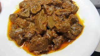 mutton kaleji masala | mutton liver with gravy