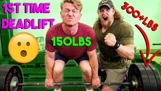 Climber Tries DEADLIFT, 2x Bodyweight *FIRST TRY*?
