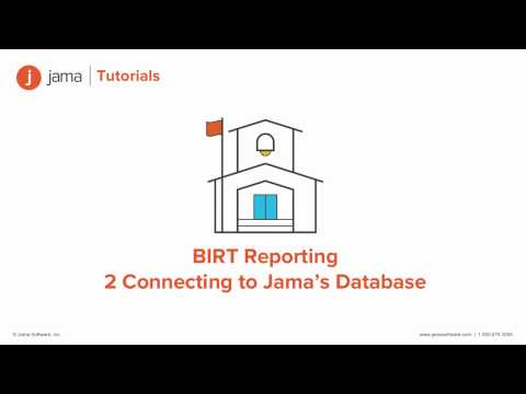 BIRT Reporting: Connecting to Jama's Database tutorial - YouTube