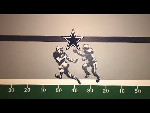 DIY NFL Field On Wall-Mural (Dallas Cowboys)