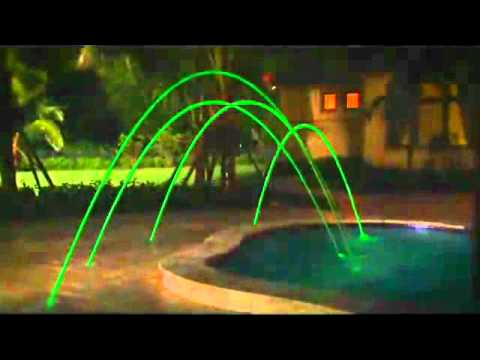 Pentair Swimming Pool Deck Jets with Led Lights - YouTube