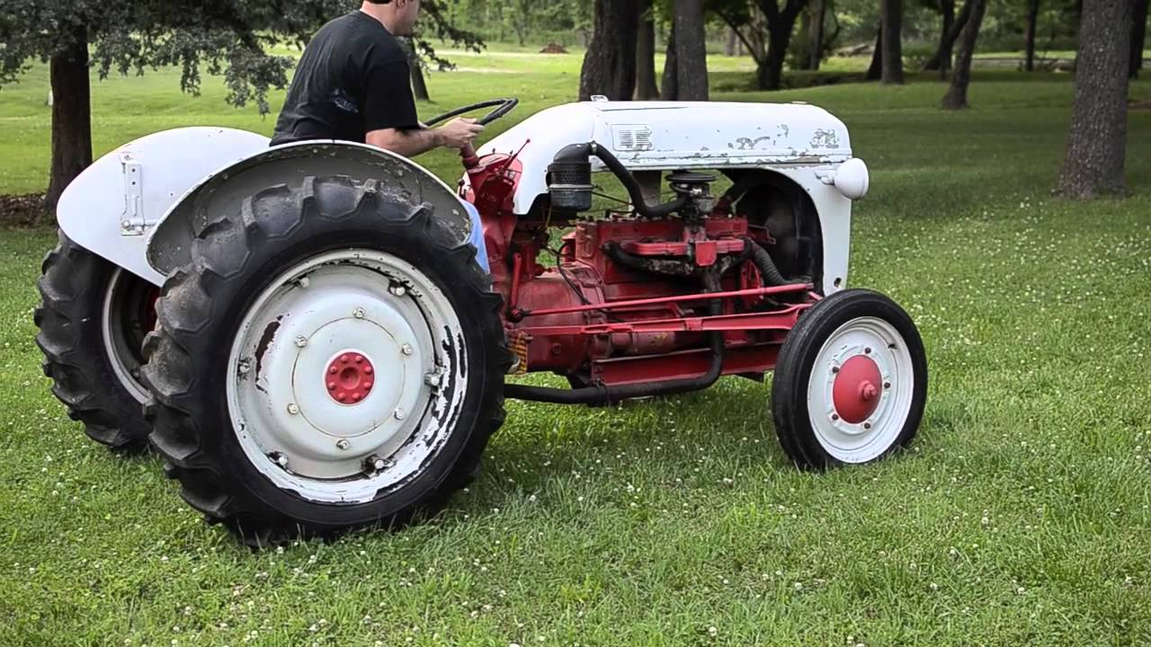 Ford 9n Tractor : Ford n with cyl funk conversion youtube