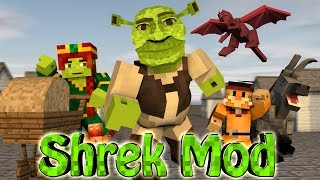 Minecraft | SHREK MOD SHOWCASE! (ShrekCraft, Far Far Away, Donkey, Ogres)