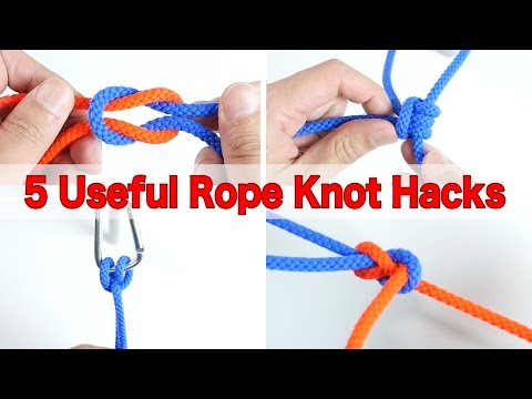 5 Useful Rope Knot Hacks