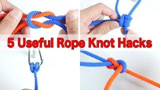 知っておきたいロープの結び方5つ!役立つロープワークの便利ライフハック thumbnail