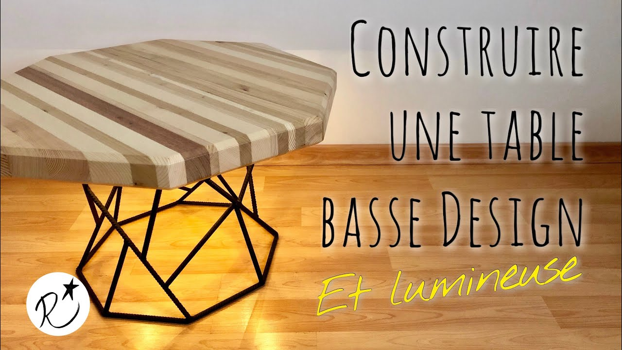 Table Basse Diy Construire Une Table Basse Design Lumineuse Diy Making A Wood And Metal Coffee Table