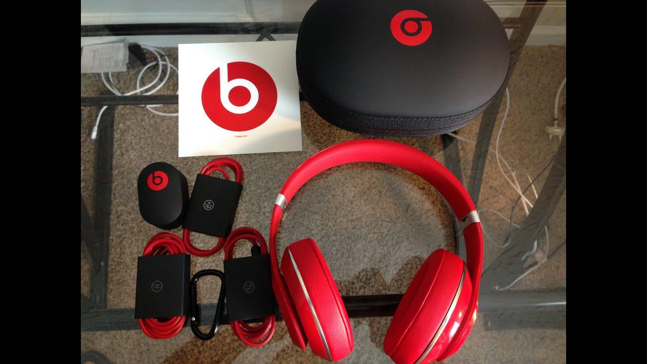 New Beats Studio V2 (RED) - Unboxing @BeatsByDre - YouTube