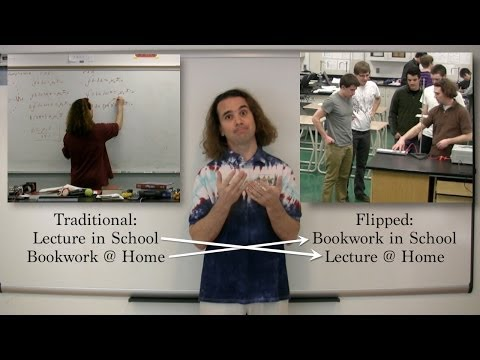 Showing the Differences between a Traditional and a Flipped Classroom