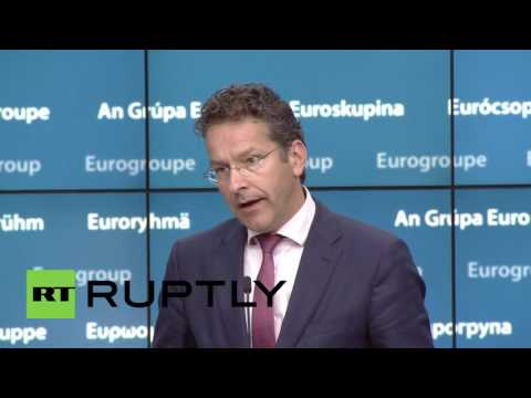 Belgium: Eurogroup endorses condemnation of Spain and Portugal - Djisselbloem